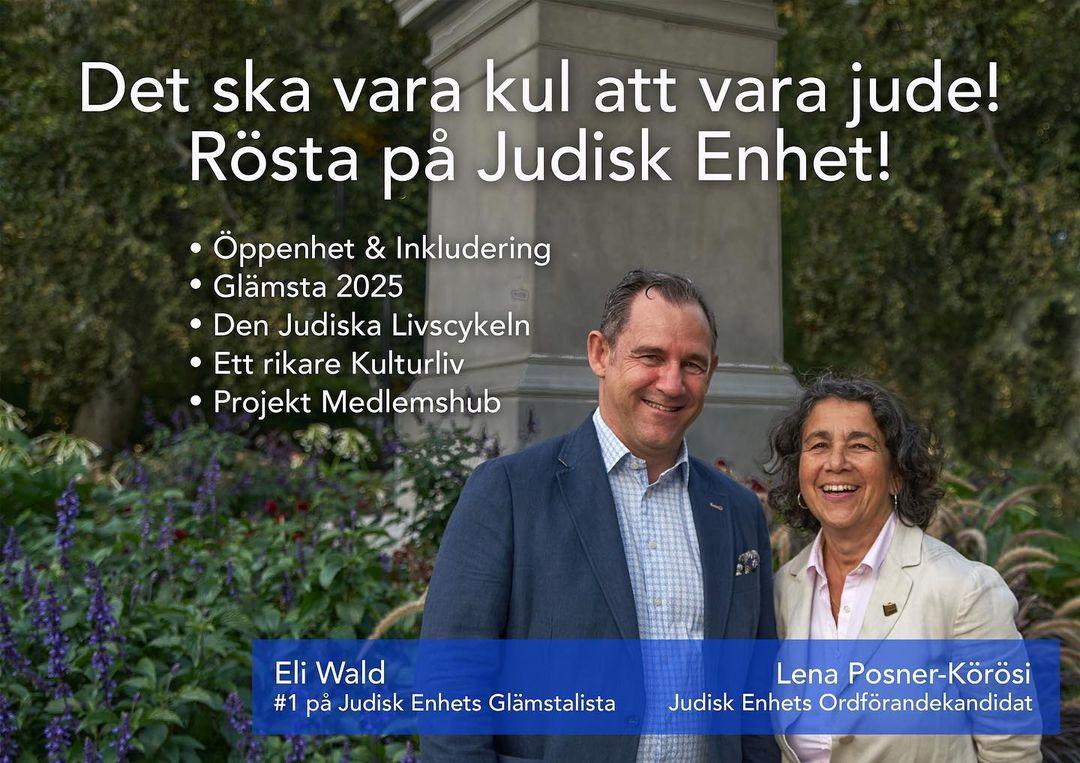 Det ska vara kul att vara jude! Rösta på Judisk Enhet!